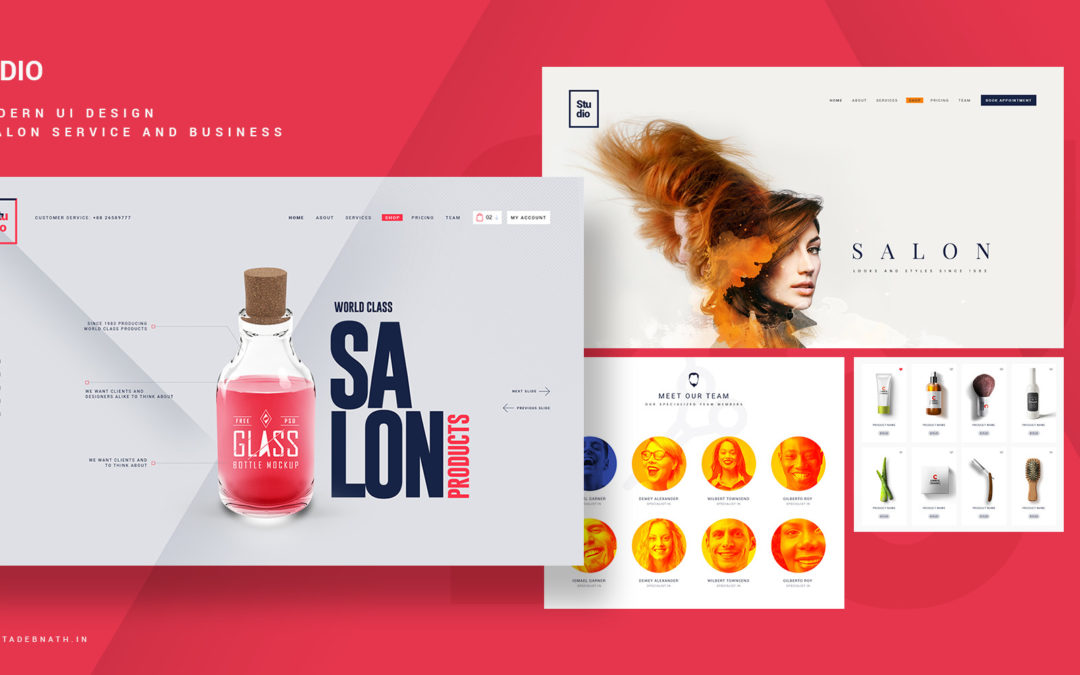 Studio-Conceptualized Salon Business UI Template