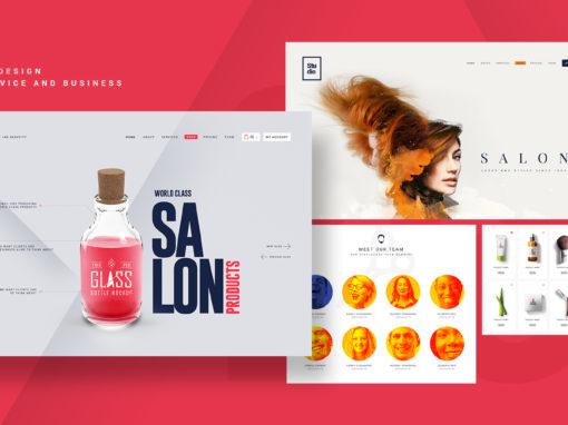 Studio-Conceptualized Salon Business UI Template