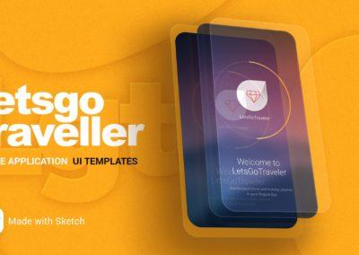 Let's Go Traveller – Mobile UI Design